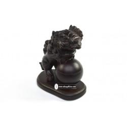 Lân xông trầm – gỗ muồng (20cm) - Xông Trầm Nhang Thiền