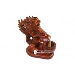 Rồng Xông Trầm – gỗ hương (18cm) - Xông Trầm Nhang Thiền