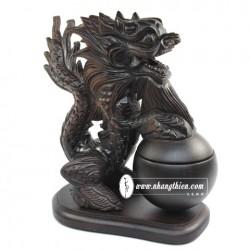 Rồng Xông Trầm – gỗ muồng (25cm) - Xông Trầm Nhang Thiền