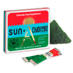 Tảo lục Sun Chlorella A bột - hộp 20 gói  (hộp nhỏ 60g)