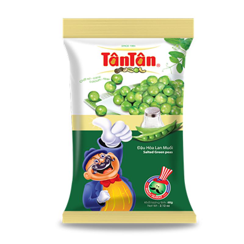 Đậu Hòa Lan Wasabi Tân Tân  (60gram) - 10 gói / Túi x 6 túi / Thùng